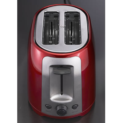 COMING SOON: 2 Slice Cool Touch Toaster ; Red and Stainless Steel  (TS-292R)
