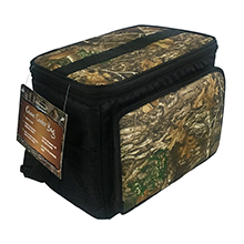 Brentwood Kool Zone CM-1200 12-Can Insulated Cooler Bag with Hard Liner, Realtree Edge Camo