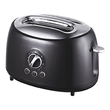 Brentwood TS-270BK Cool Touch 2-Slice Extra Wide Slot Retro Toaster, Black