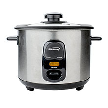 Brentwood TS-15 8-Cup Rice Cooker, Stainless Steel