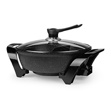 Coming Soon - Brentwood SK-72BK 1600-Watt Electric Non-Stick Shabu Shabu Hot Pot, Black