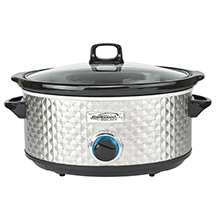 Brentwood Select SC-157S 7 Quart Slow Cooker, Silver