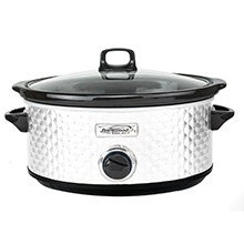 Brentwood Select SC-157W 7 Quart Slow Cooker, White