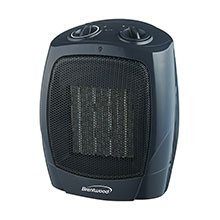 Brentwood H-C1601 1500-Watt Portable Ceramic Space Heater and Fan, Black