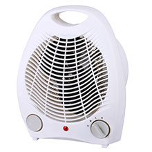 Brentwood H-F302W 1500-Watt Portable Electric Space Heater and Fan, White