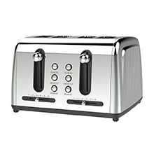Brentwood Select TS-446S Extra Wide Slot 4-Slice Toaster, Stainless Steel