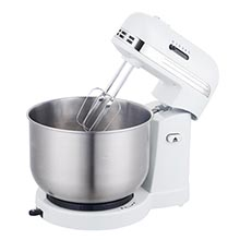 Brentwood SM-1162W 5-Speed Stand Mixer with 3Qt. Stainless Steel Mixing Bowl, White