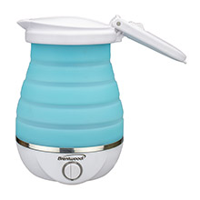 Brentwood KT-1508BL Dual Voltage 120/220v 0.8L Collapsible Travel Kettle, Blue