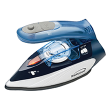 Brentwood MPI-45 800-Watt Dual Voltage Non-Stick Travel Iron with Steam, Blue